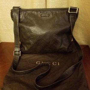Gucci Messenger Guccissima Brown Leather Crosbody